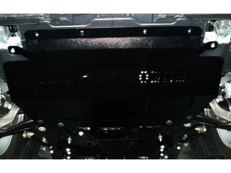 Фото Защита двигателя Citroen C5 2008-2015 со стальным подрамником Кольчуга