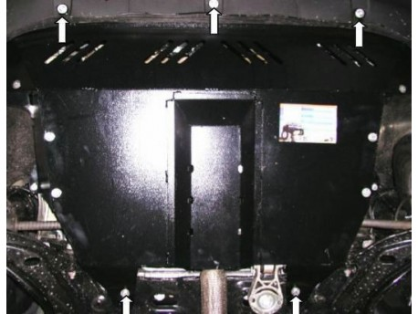 Фото Защита двигателя Fiat Doblo 2001-2014 Кольчуга