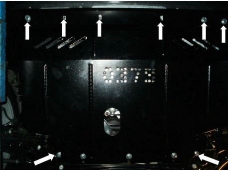 Фото Защита двигателя Fiat Linea 2007- V-1.6 Кольчуга
