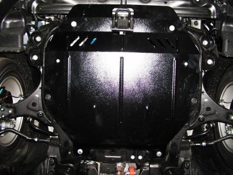 Фото Защита двигателя Hyundai Sonata 2010-2015 овальный подрамник Кольчуга