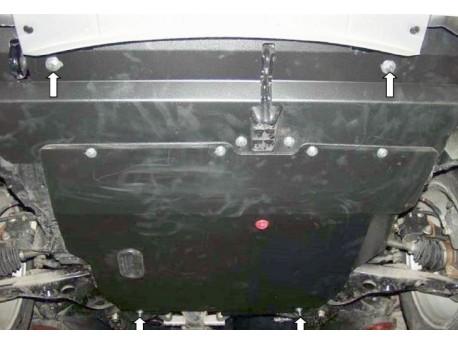 Фото Защита двигателя Mitsubishi Outlander 2003-2011 Кольчуга