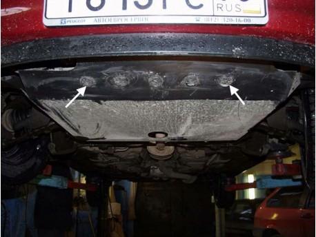 Фото Защита двигателя Peugeot 206 1998-2010 Кольчуга