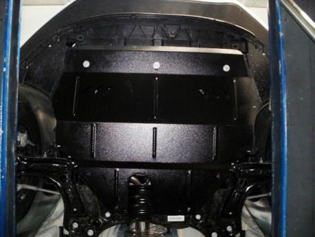 Фото Защита двигателя Volkswagen Polo 2009- V-1.2 D дизель Кольчуга