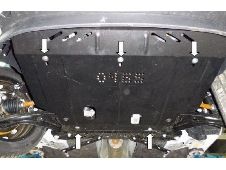 Фото Защита двигателя Ford Courier 2014- Кольчуга