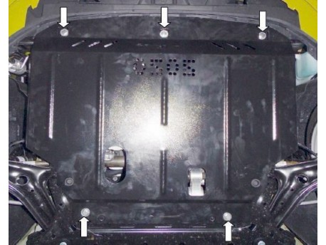 Фото Защита двигателя Ford Fiesta 2013- 3 дв. V-1.0 Кольчуга