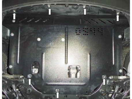 Фото Защита двигателя Kia Soul 2014- Кольчуга