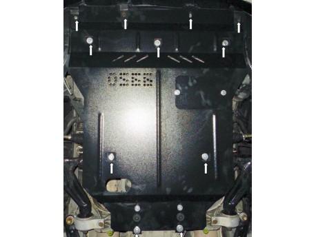 Фото Защита двигателя Lexus GS 2005-2012 задний привод Кольчуга