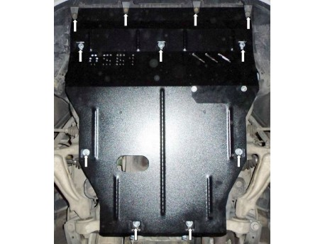 Фото Защита двигателя Lexus GS 2005-2012 4х4 Кольчуга ZiPoFlex