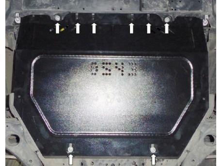 Фото Защита двигателя Mazda CX5 2011- Кольчуга