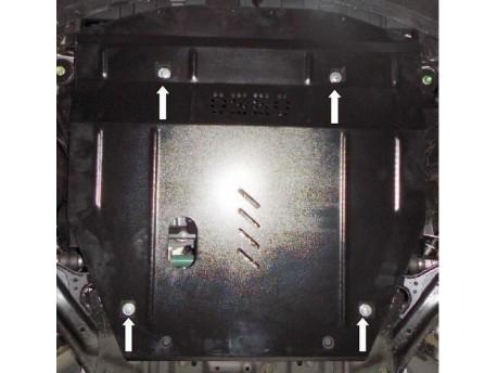 Фото Защита двигателя и редуктора Nissan X-Trail 2014- Кольчуга