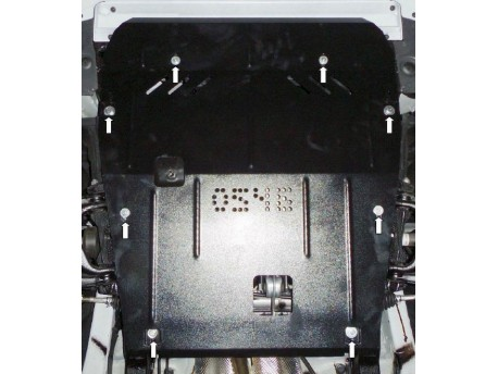 Фото Защита двигателя Renault Logan 2013- Кольчуга