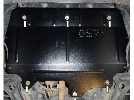 Фото Защита двигателя Skoda Fabia 2007-2015 V-1.2 Кольчуга