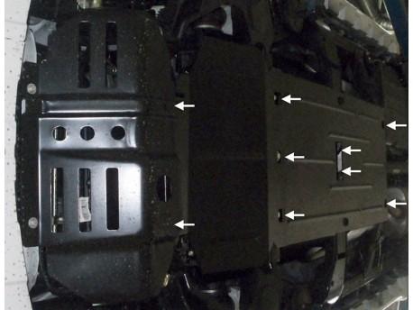 Фото Защита двигателя, раздатки и редуктора Great Wall Wingle 2014- Кольчуга