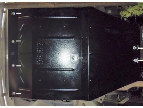 Фото Защита двигателя Mercedes Vito W639 2003-2010 Кольчуга