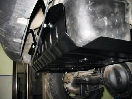 Фото Защита топливного бака 2 мм для Jeep Cherokee 2001-2008 Полигон-Авто