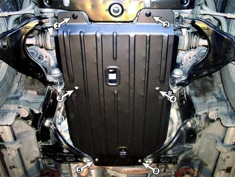 Фото Защита двигателя и КПП 2.5 мм для Toyota Land Cruiser Prado 2002-2009 Полигон-Авто